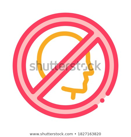 Prohibition of Personality Icon Vector Outline Illustration Stock photo © pikepicture