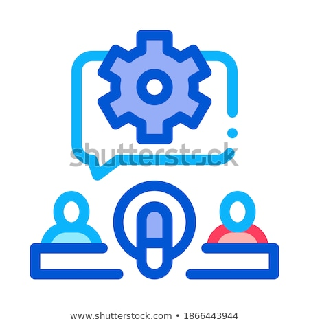 Hosts Microphone Gear Icon Outline Illustration Stock photo © pikepicture