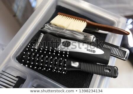 Fésű tálca fodrászat haj szerszámok szerszám Stock fotó © dolgachov