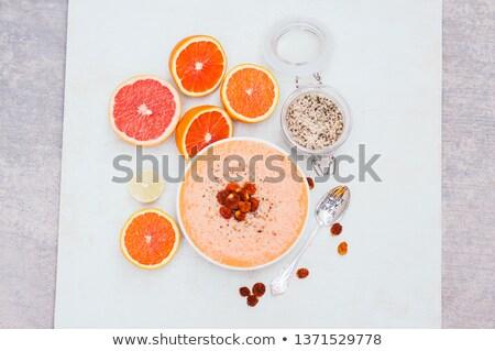 Smoothie kom oranje kalk grapefruit Stockfoto © vkstudio
