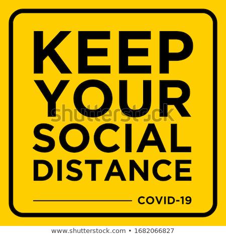 Yellow virus hazard sign with CORONAVIRUS text Stock photo © alessandro0770
