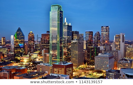 Outline Dallas Skyline with Blue Buildings.  Stock photo © ShustrikS