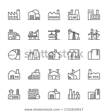 Químicos fábrica icono vector ilustración Foto stock © pikepicture