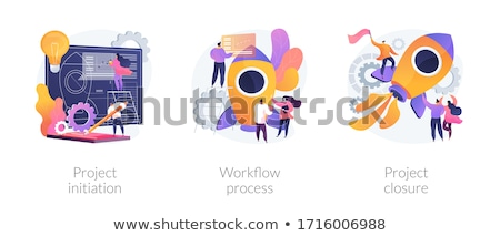 Project uitvoering abstract vector illustraties ingesteld Stockfoto © RAStudio