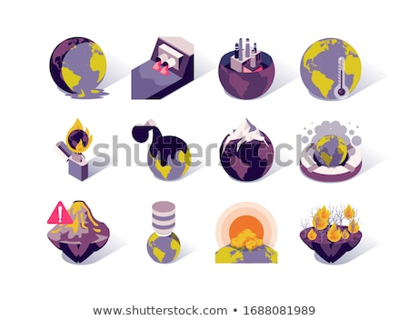 Environmental Problems Vector Isometric Icons Set Stock photo © pikepicture