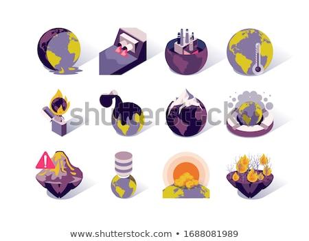 Környezeti problémák vektor izometrikus ikon szett probléma Stock fotó © pikepicture