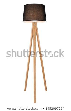 Floor lamp detail. White lampshade Stock photo © cienpies
