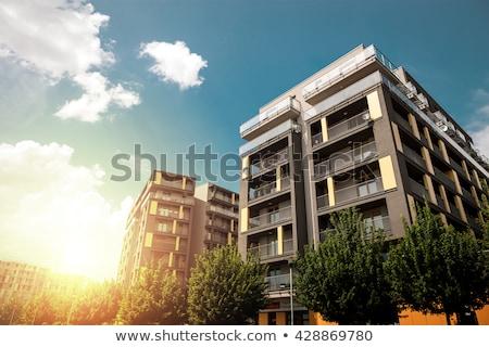 Társasház építészet lakás struktúra külső Stock fotó © FOKA