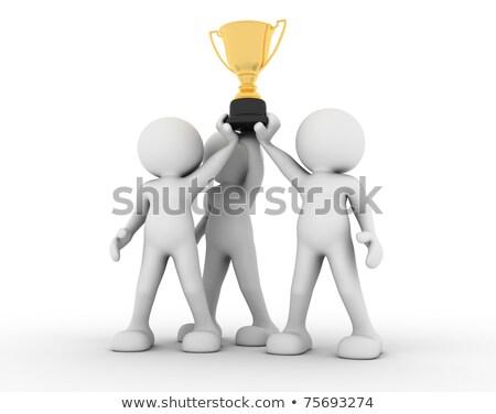 arany · trófea · csésze · izolált · fehér · győzelem - stock fotó © dacasdo