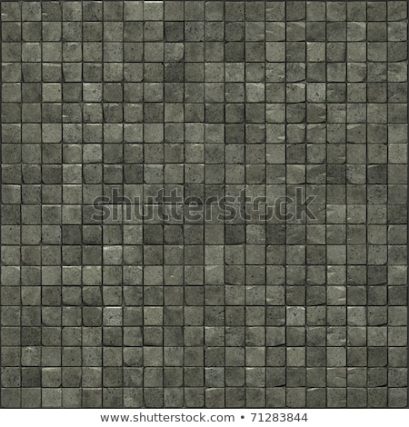 large 3d render of a smooth speckled gray stone mosaic wall floo Stock photo © Melvin07