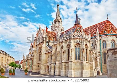 templom · Budapest · Magyarország · kilátás · éjszaka · kastély - stock fotó © fazon1