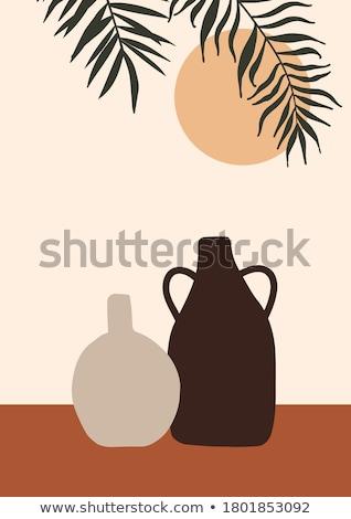 抽象的な 花 花瓶 ベクトル 画像 女性 ストックフォト © damonshuck