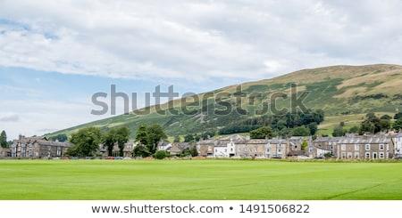 Kisváros épület fal tájkép mező zöld Stock fotó © CaptureLight