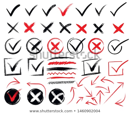Foto stock: Red Pencil With Check Mark