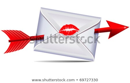Love Letter sealed with a kiss and arrow Stock photo © fenton