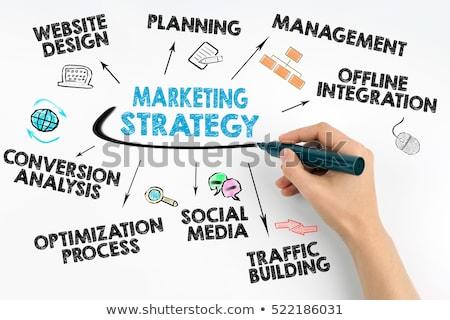 businessman with marketing strategy stock photo © stevanovicigor
