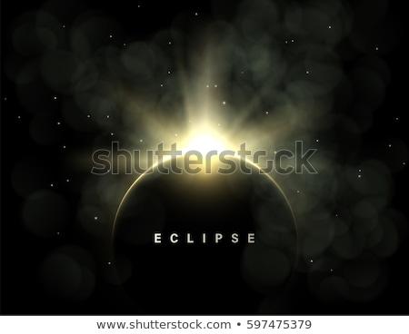 Bolygó fogyatkozás absztrakt sötét illusztráció hold Stock fotó © mikemcd