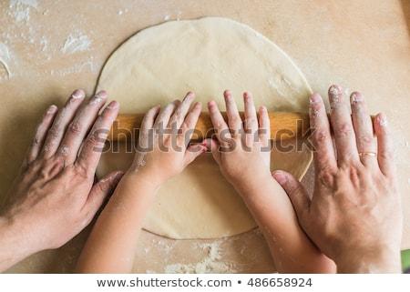 рук · деревянный · стол · катиться · из · стороны - Сток-фото © inxti