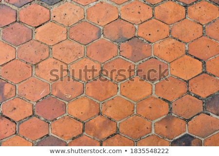 top view texture of a side walk with pavement, wall and road Stock photo © Melvin07