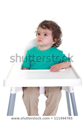 annoyed kid with funny fed up expression Stock photo © lunamarina