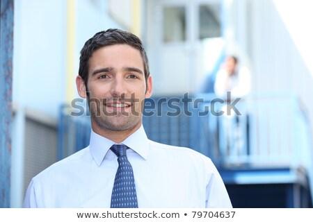 Adam takım elbise kravat dışında işyeri iş Stok fotoğraf © photography33