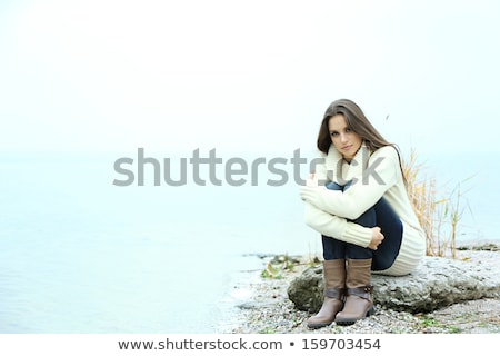 Portrait of young woman near a river Stock photo © photography33