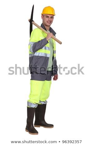 портрет каменщик Постоянный плечо фон области Сток-фото © photography33