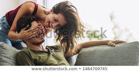 Woman covering partners eyes Stock photo © photography33