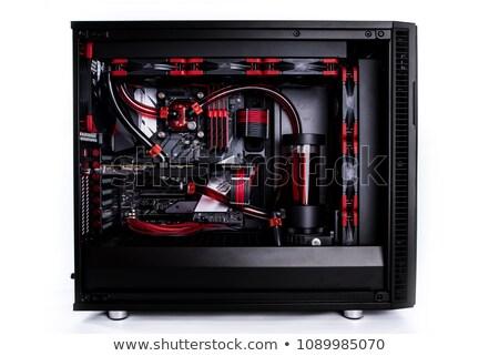 bilgisayar · durum · yalıtılmış · beyaz · dizayn · Sunucu - stok fotoğraf © ozaiachin