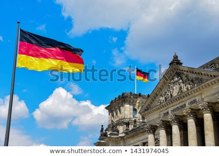 German Flag Flying over Reichstag Bundestag Stock photo © bobbigmac