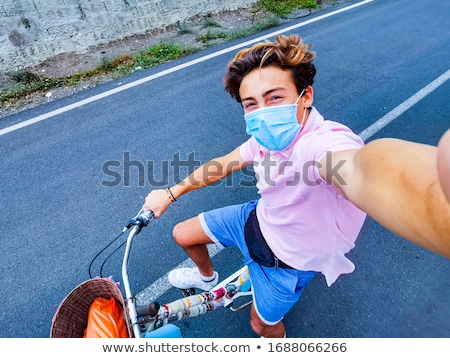 Teenagers riding bikes Stock photo © photography33