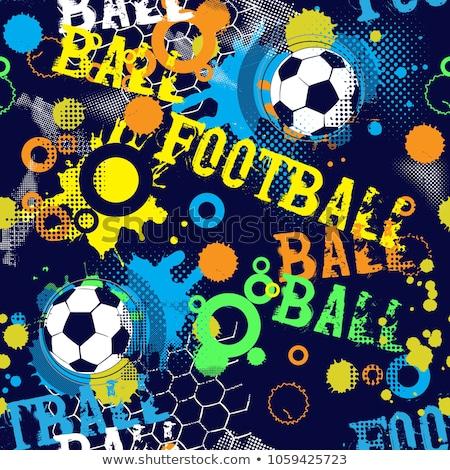 Abstrato colorido futebol grunge projeto futebol Foto stock © pathakdesigner