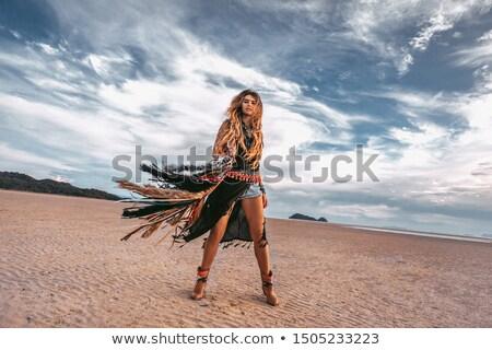 довольно · хиппи · девушки · молодые · ярко · красивой - Сток-фото © mariematata