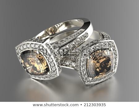 Conhaque diamante isolado branco moda Foto stock © Rozaliya