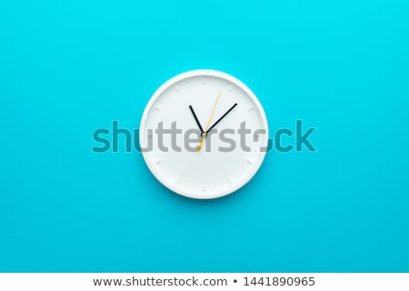 time concept with watch or clock on white wall Stock photo © ozaiachin