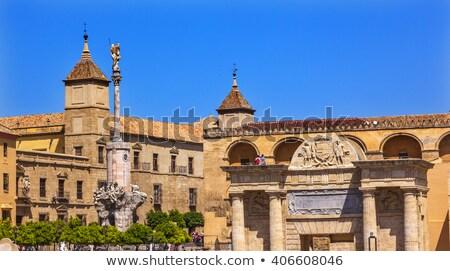 Diadal Spanyolország város szobor oszlop turizmus Stock fotó © neirfy
