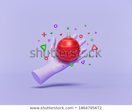 hand holding a brand 3d sphere stock photo © kbuntu