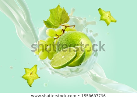 fresh tasty lime citrus yoghurt shake dessert isolated Stock photo © juniart