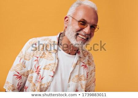 Sápadt férfi arc haj szomorú portré Stock fotó © photography33
