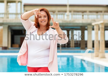 woman holding photo of mouth stock photo © photography33