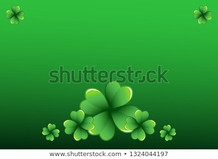 Vibrant Green Clover Stock photo © RachelD32