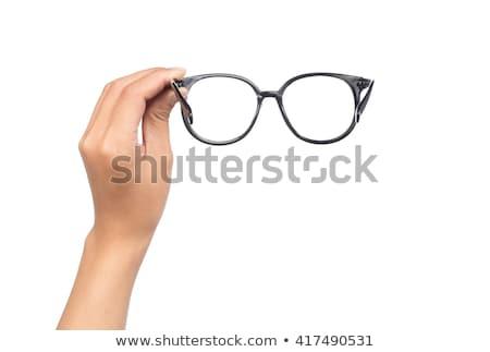 Eller gözlük gözlük beyaz tıp Stok fotoğraf © REDPIXEL