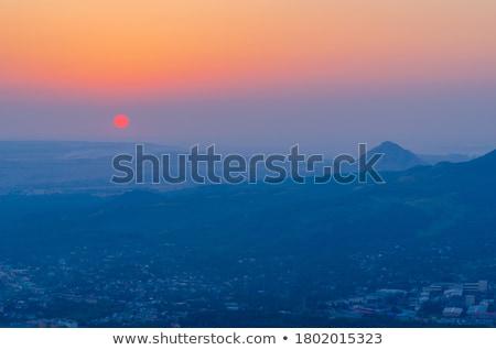 View of the Pyatigorsk with mountains Mashuk stock photo © suliel