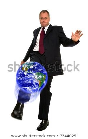 üzletember · rúg · földgömb · világ · üzlet · piac - stock fotó © RTimages