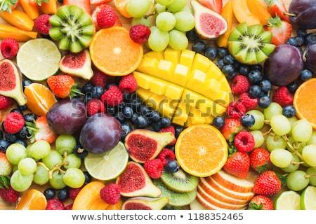 Stock fotó: Gyümölcs · narancs · piros · tányér · eper · szőlő