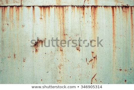 коричневый · зеленый · старые · ржавчины · металл · пластина - Сток-фото © zeffss