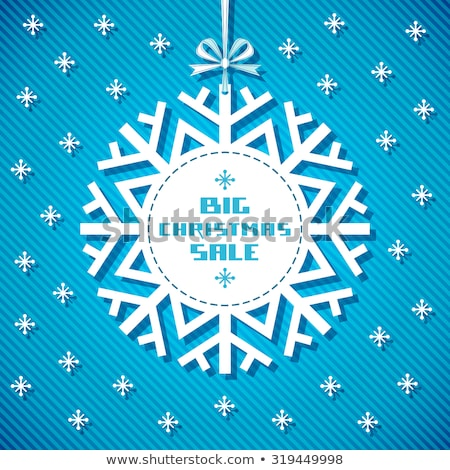 winter discount snowflake label stock photo © marinini