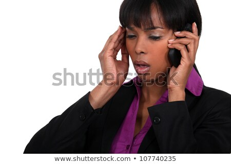 Office worker receiving bad news over the telephone Stock photo © photography33