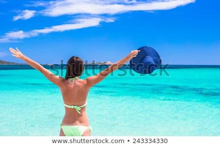Avustralya · bayrak · kum · plaj · yaz - stok fotoğraf © roboriginal