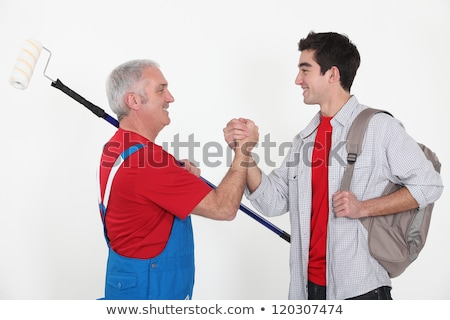 craftsman and apprentice shaking hands Stock photo © photography33